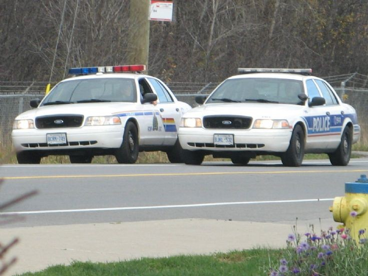 RCMP and Ottawa Police Fords.