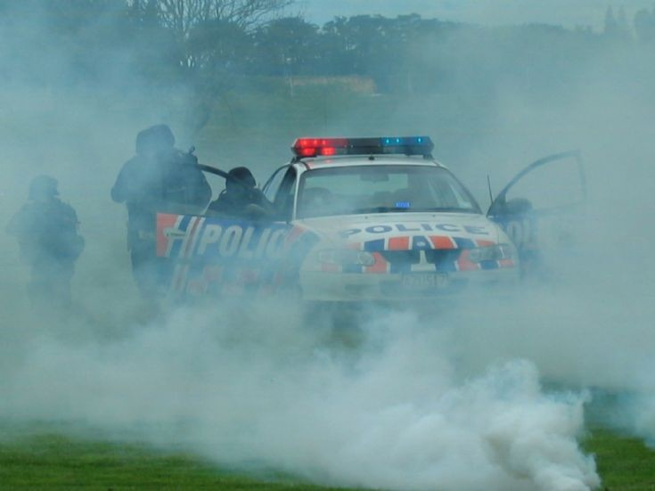 New Zealand Police Holden display