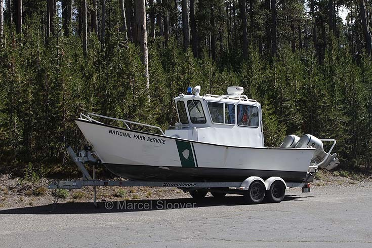 Boat in Yellowstone Park