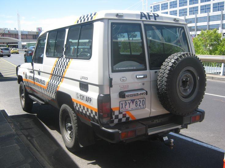 Australian Federal Police Toyota Landcruiser.