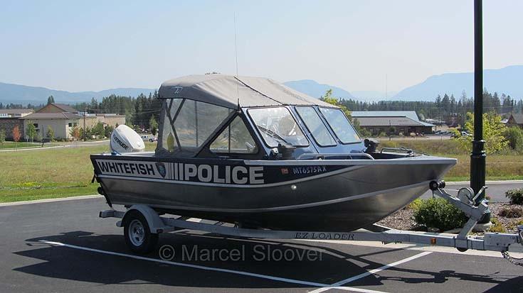 Whitefish police boat