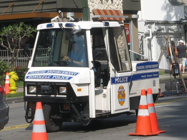 Police Car Photos Cushman Motor Tri Cycle Honolulu Pd