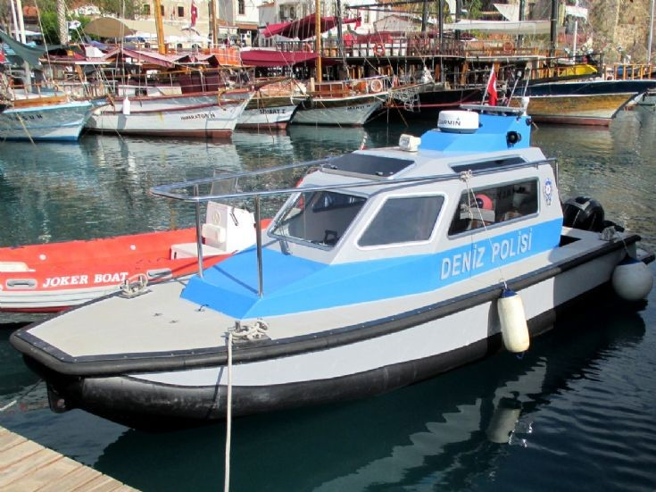 Police Speed Boat,Antalya,old harbour