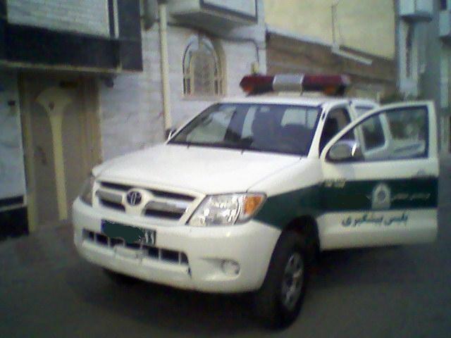 Toyota Hilux police car in Iran