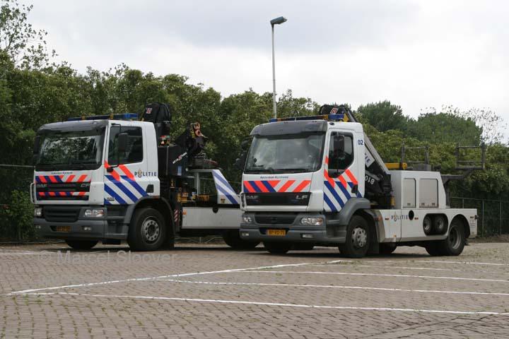 Politie Rotterdam Rijnmond DAF 65 CF and LF