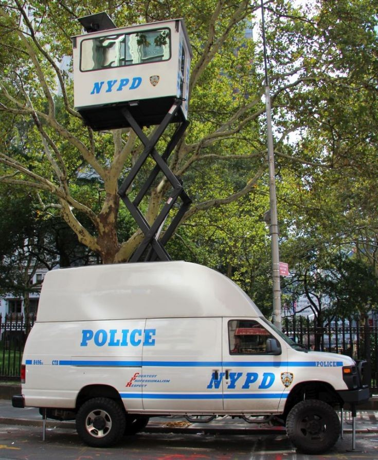 NYPD Surveillance van