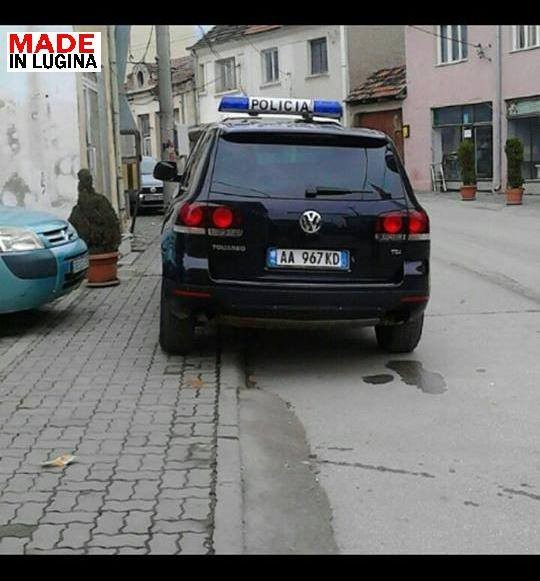 Srbian police escort vehicle.