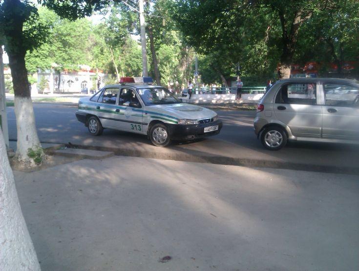 Nexia police car of Tashkent, UZ