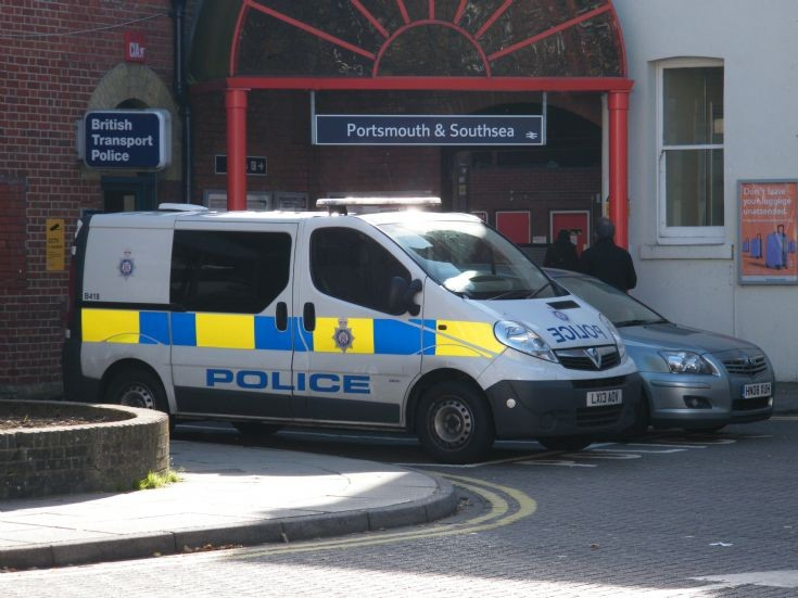 Britsh Transport Police Vauxhall van in Portsmouth