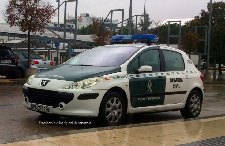 Guardia Civil, Fiscal y Fronteras. Peugeot 307