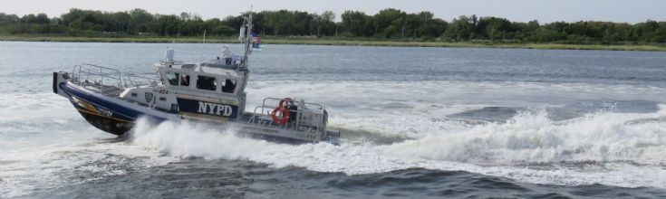 NYPD Harbor Patrol at speed