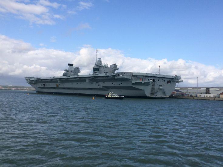 MOD Police launch Guards HMS Queen Elizabeth