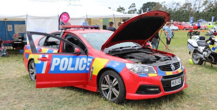NZ Police Hi-Vis Highway Patrol car