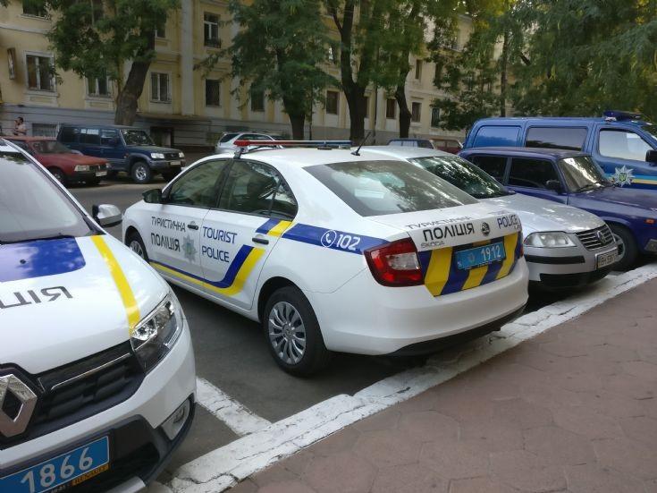Škoda Rapid tourist police car