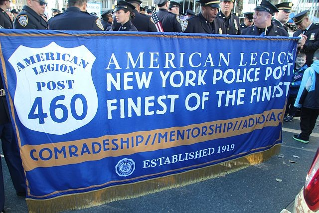 NYPD Am Legion Post banner