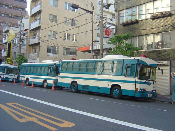 Tokyo Police Department Nissan Bus Riot police
