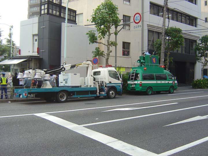 Tokyo Police Department Nissan Lighting truck