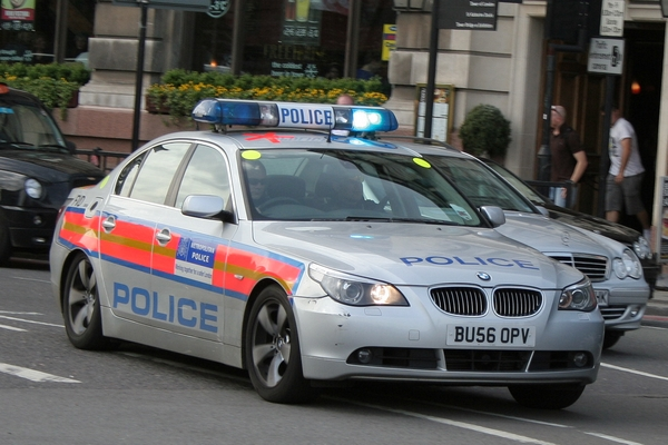 BMW 5-series London Police Patrol Car BU56OPV