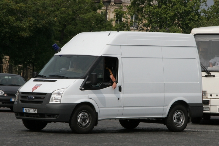 White new Ford Transit CRS